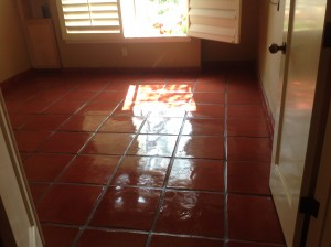 sealed ceramic tile