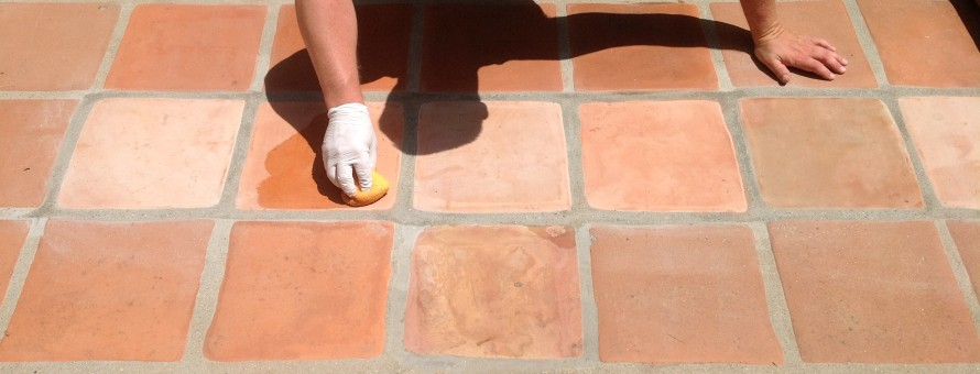 staining tecate pavers to color match