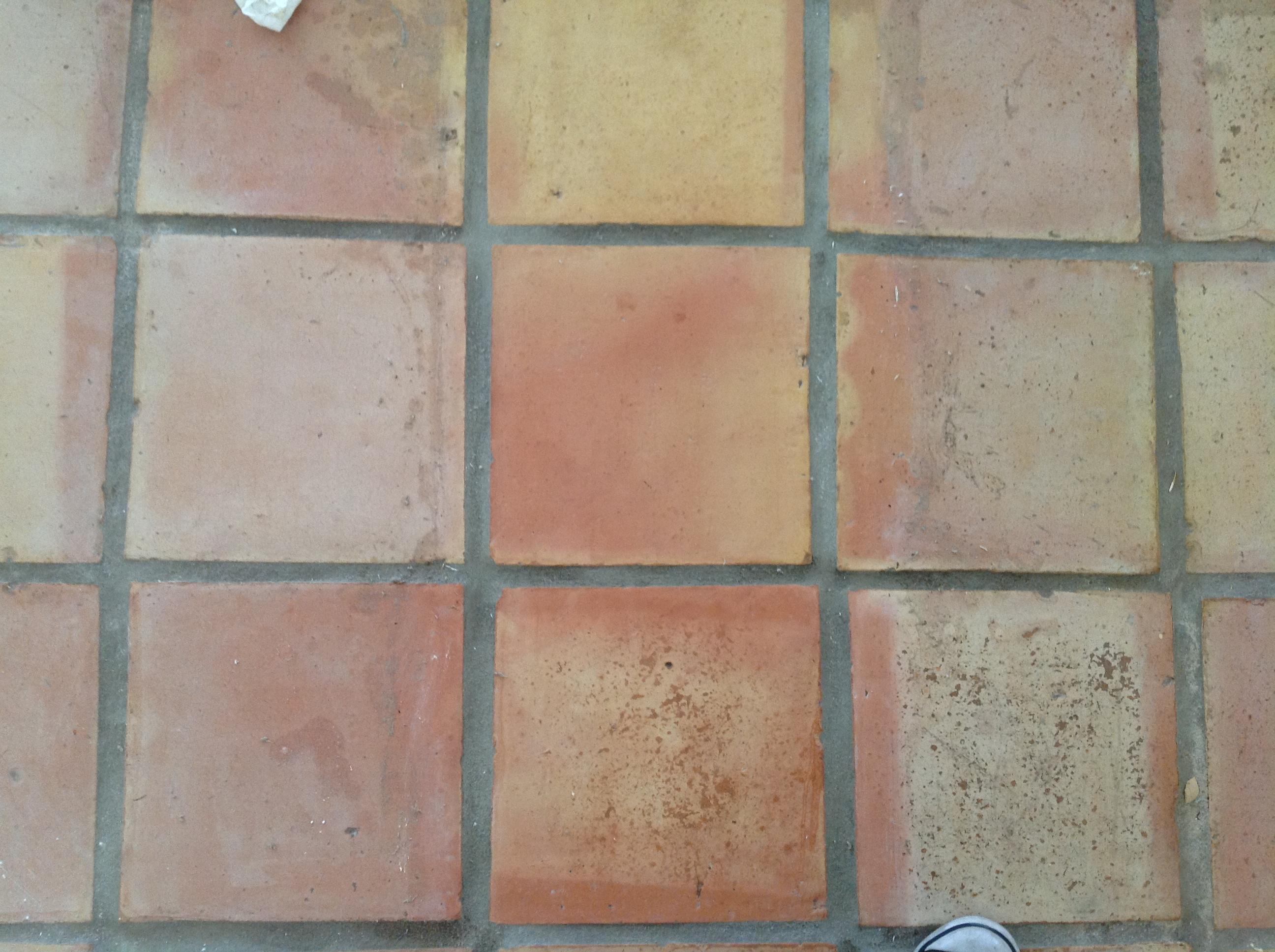 Refinishing saltillo tile floors