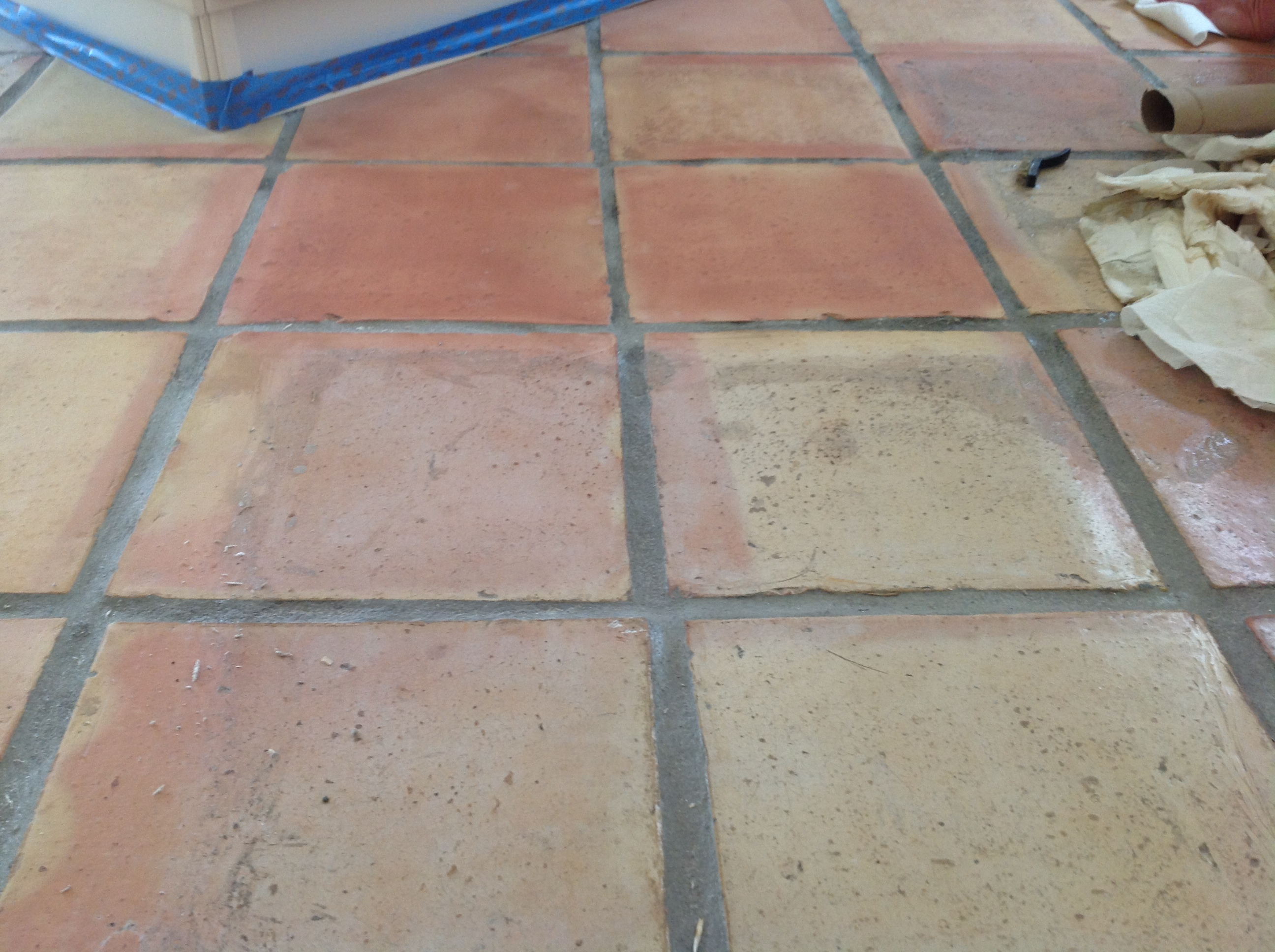 Terra Cotta Saltillo Paver Refinishing Stripping All