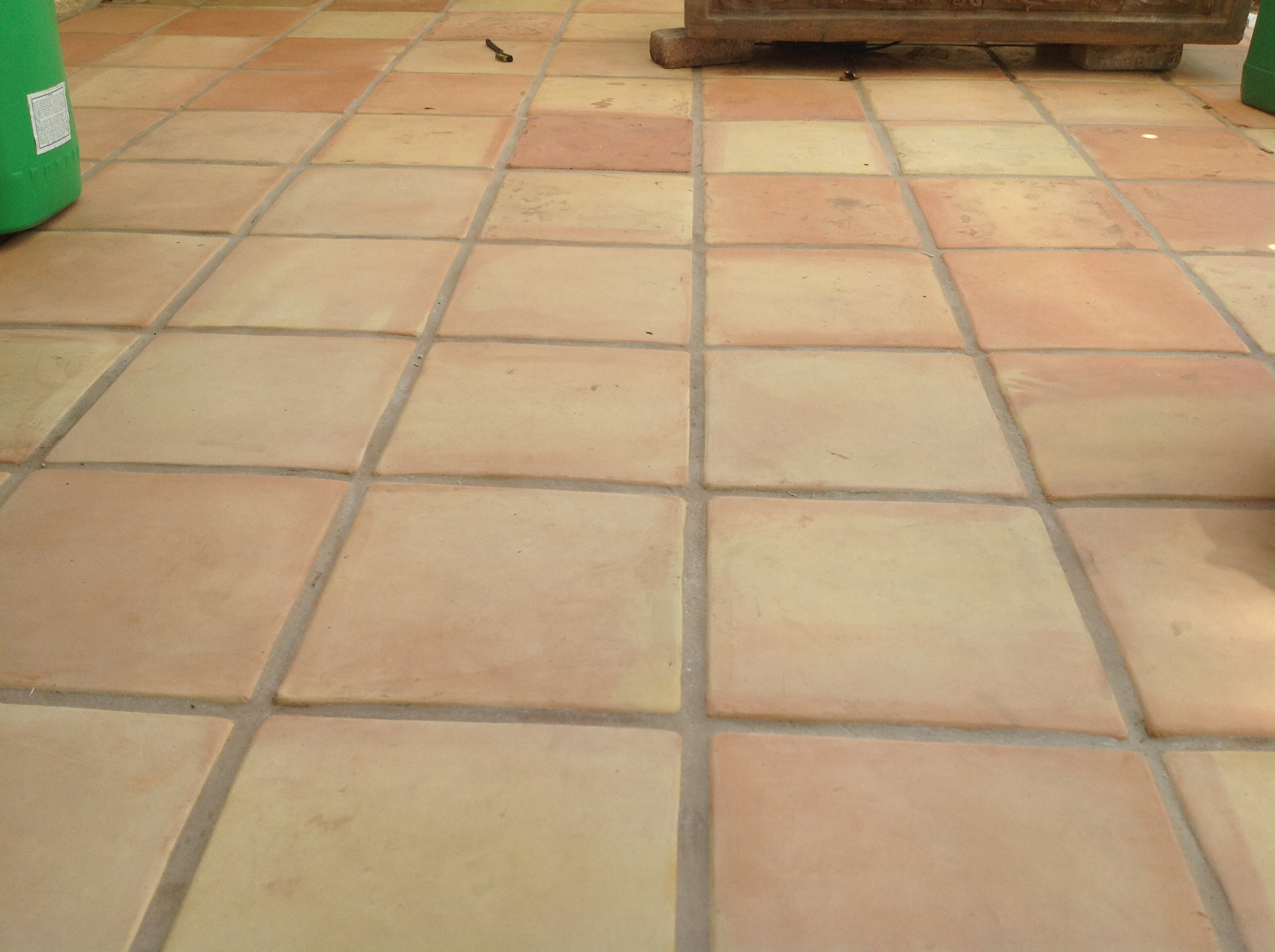 Superior saltillo tile floor refinishing restoration without messy machines - Tile flooring ...