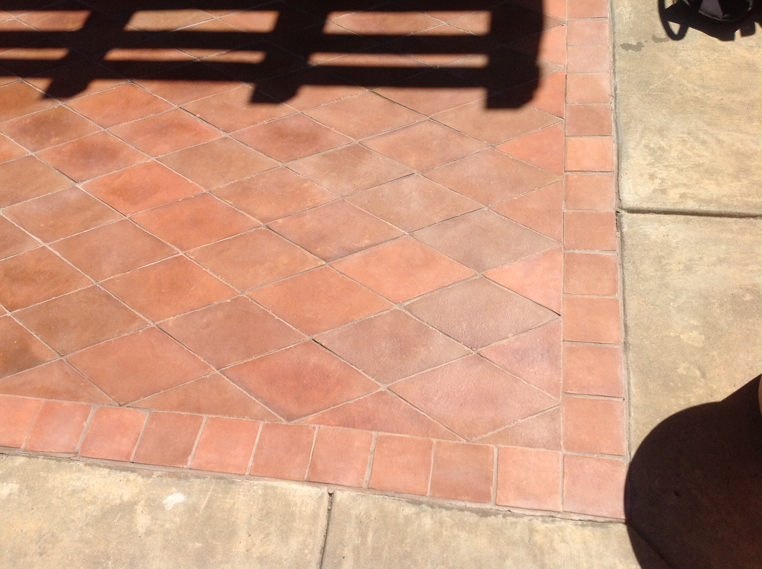 Mexican Terracotta Paver Exterior Patio Restored