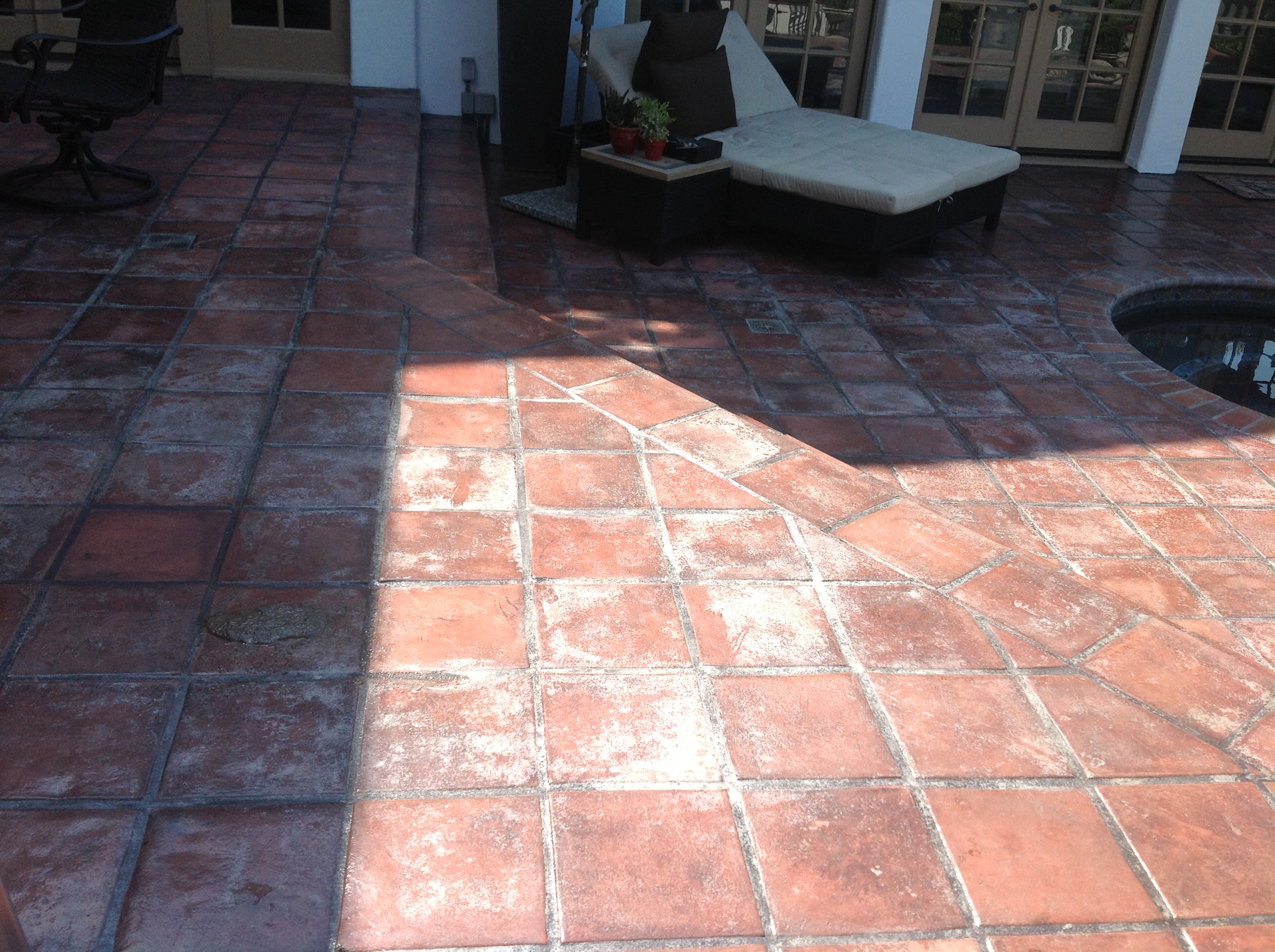 ... Paver Patio Hazy ...