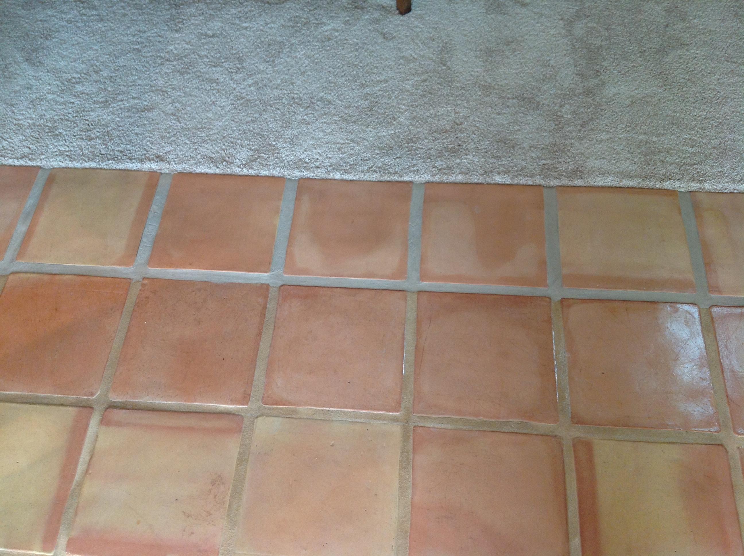 saltillo tile dirty peeling dull california tile refinishing img saltillo tile dirty peeling dull