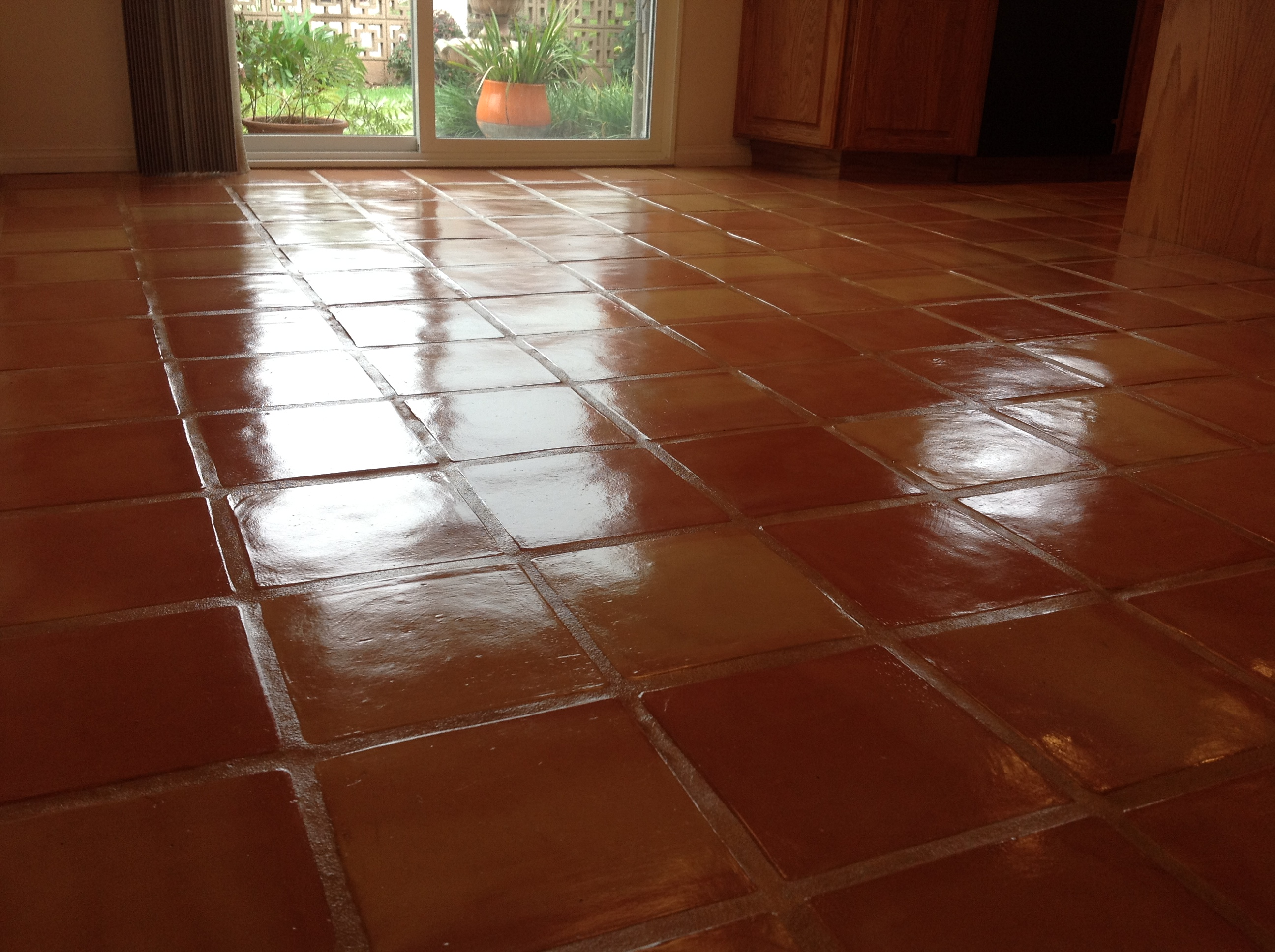 Saltillo tile dirty peeling dull california tile refinishing sealing saltillo tile dailygadgetfo Image collections