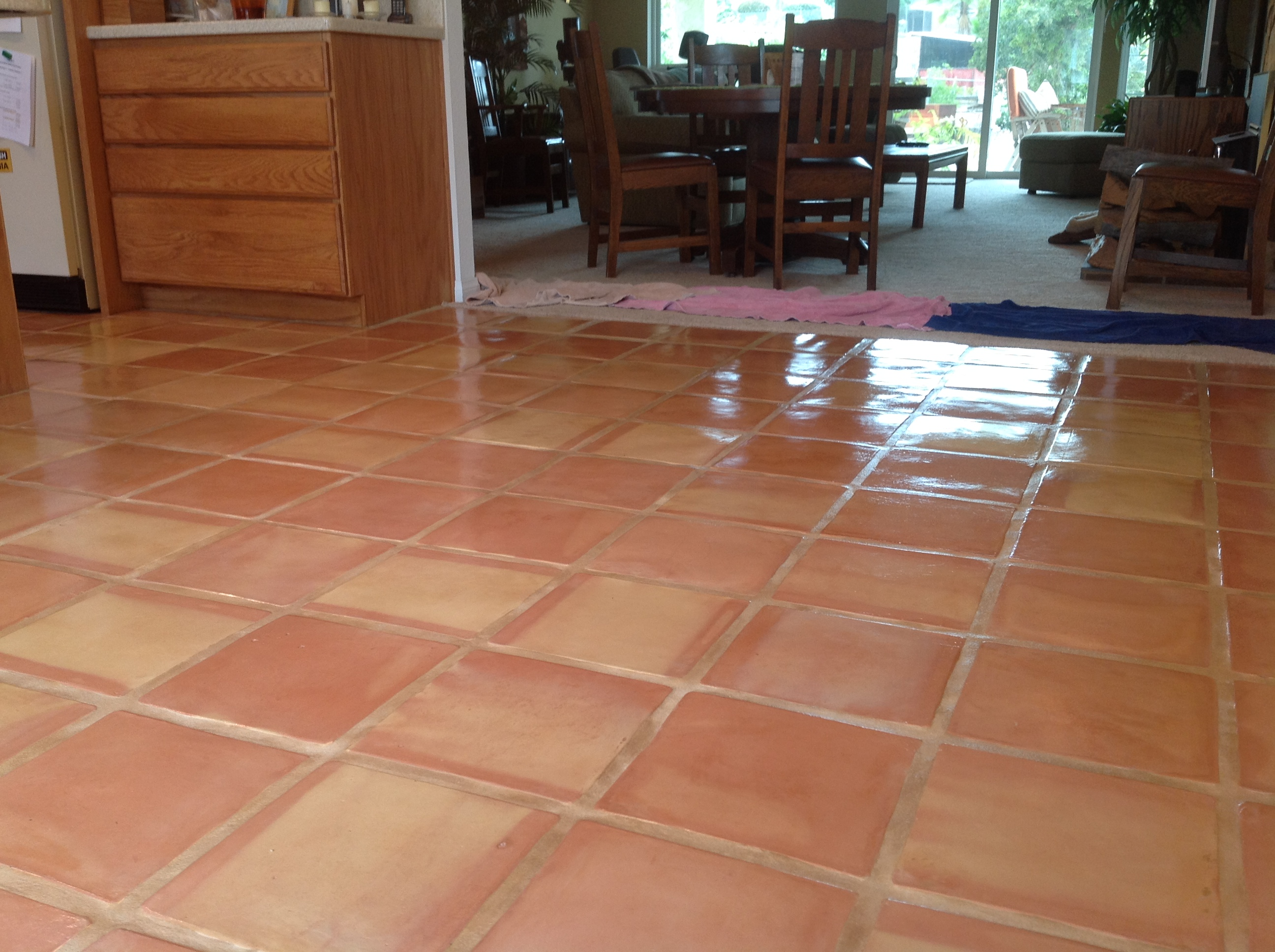 Tile Marin Saltillo Grout Sealed San Go