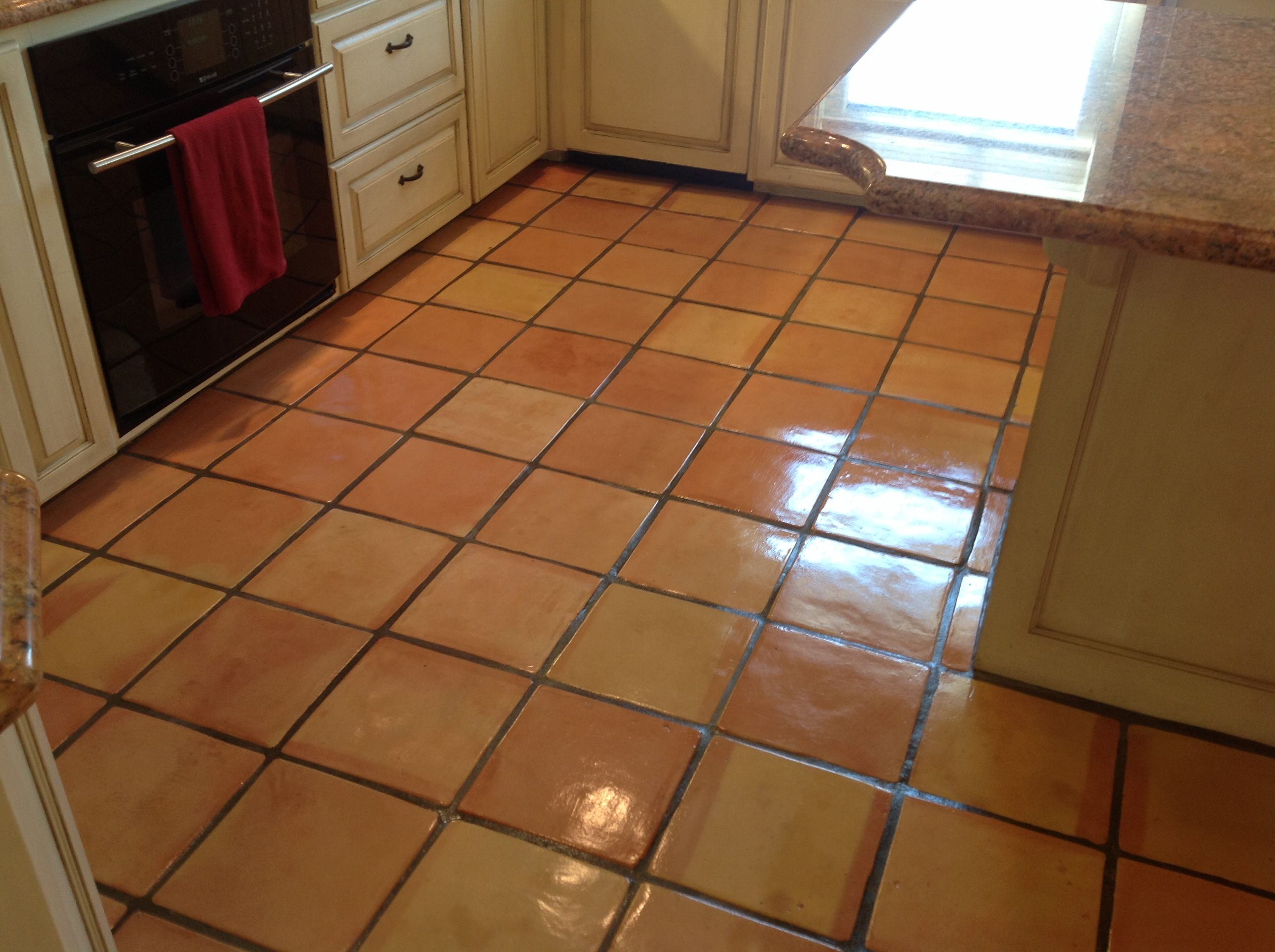 Kitchens With Saltillo Tile Floors Quality Saltillo Tile Cleaning Refinishing Installation Services