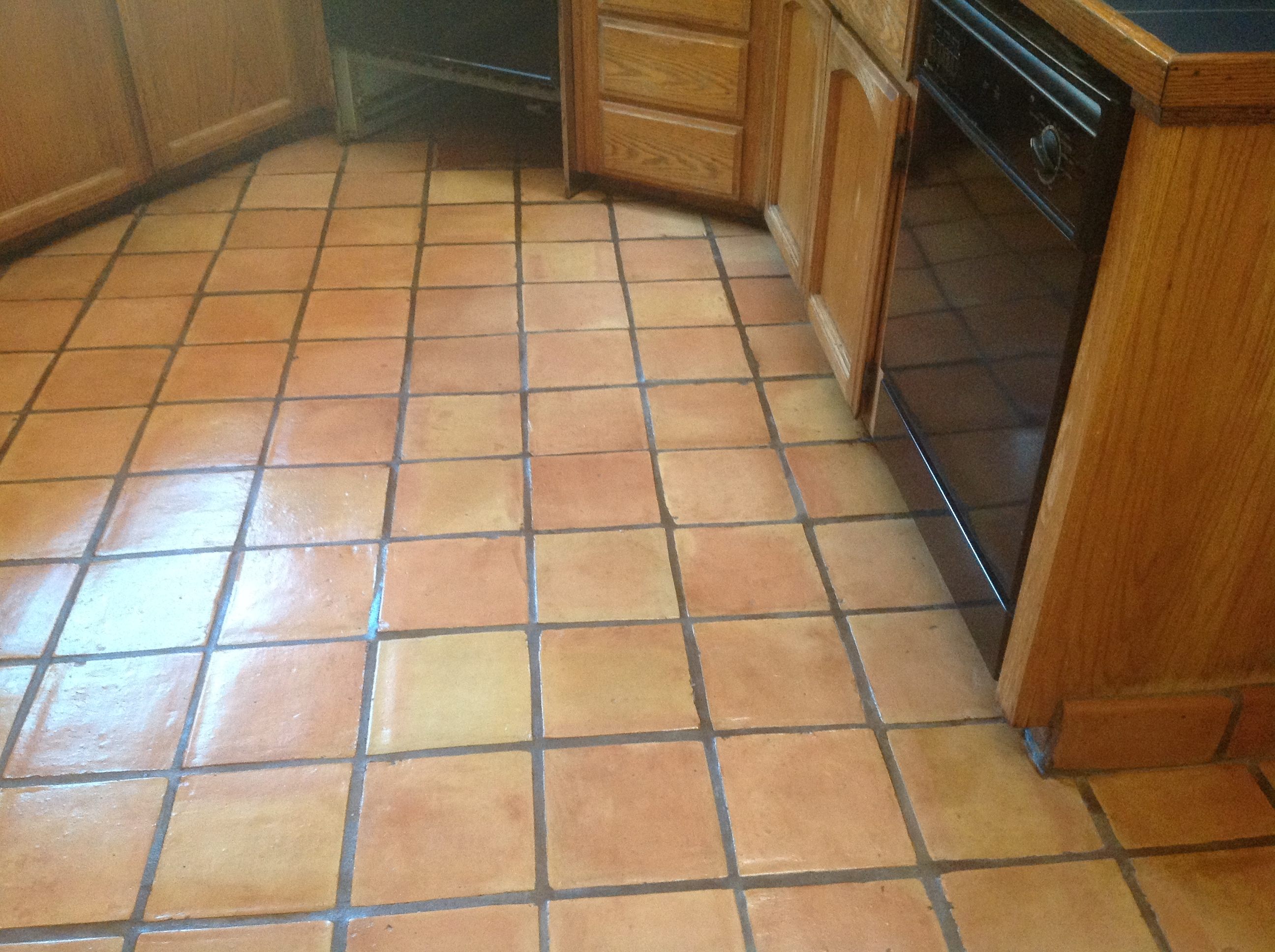 Refinishing mexican tile floors