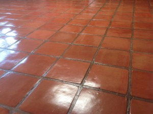 `stained mexican saltillo tile