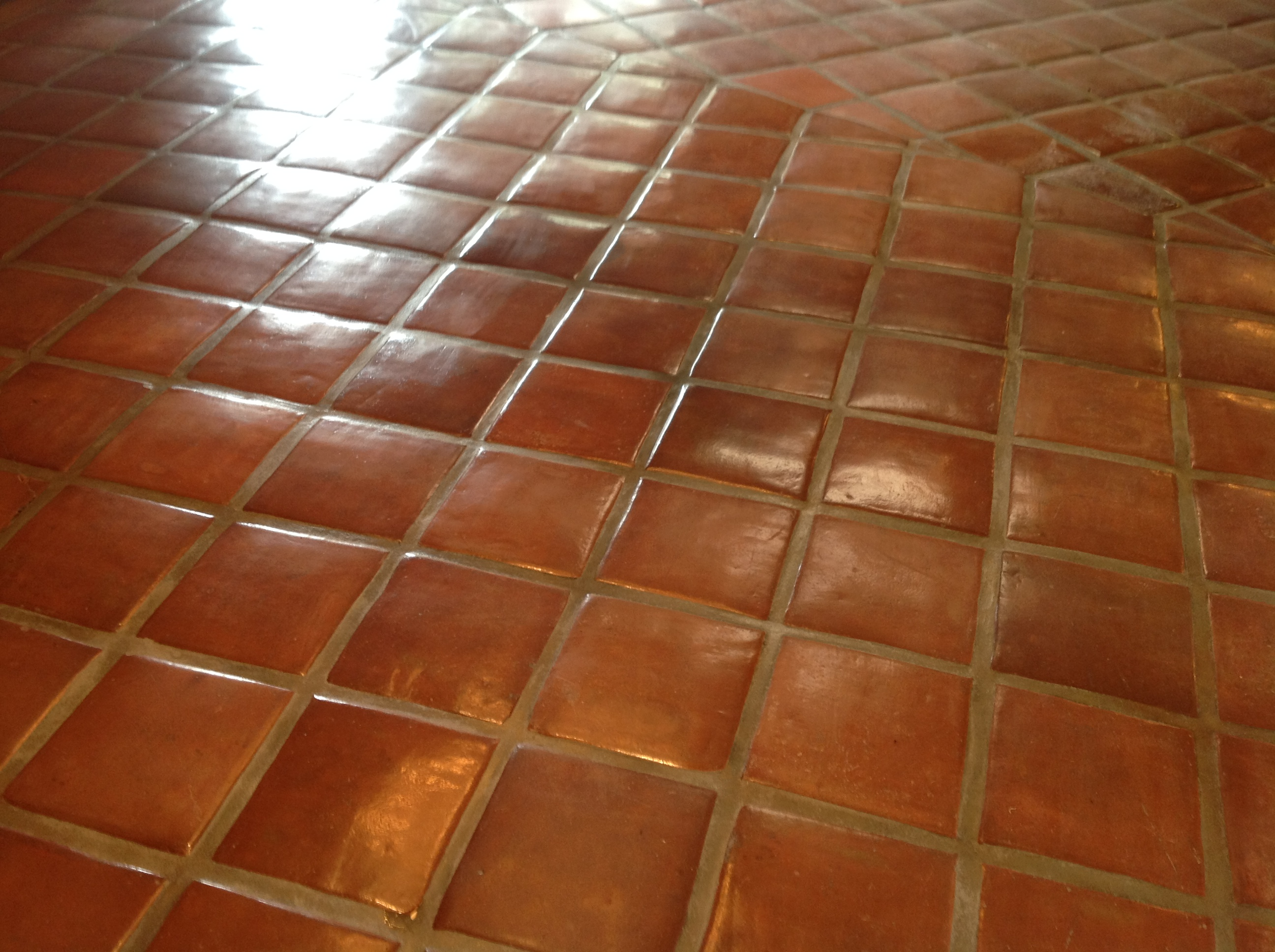 Saltillo tile cleaning california tile restoration dull but clean mexican tiles wet look saltillo tile floor dailygadgetfo Image collections