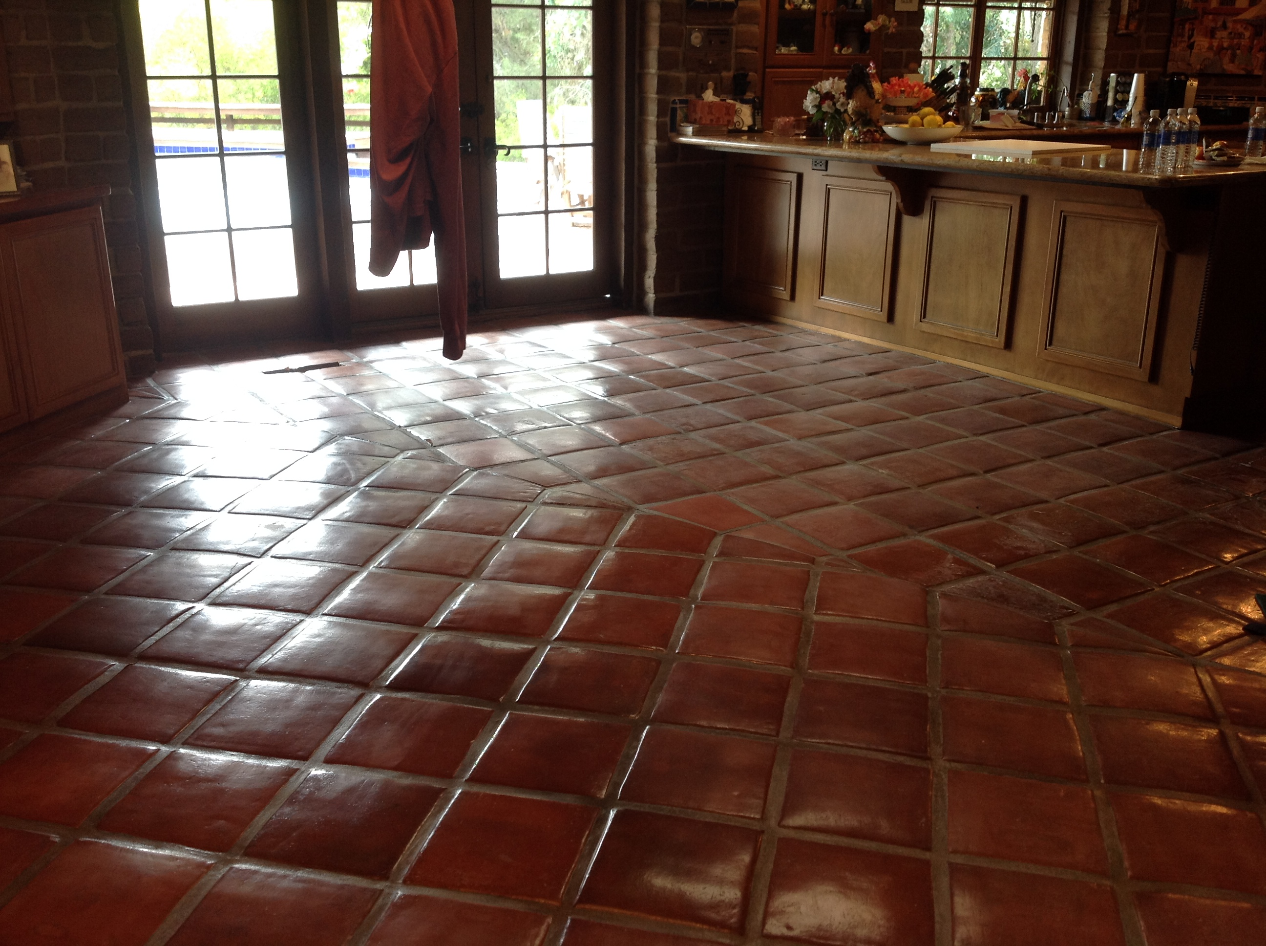 Saltillo tile cleaning california tile restoration cleaning mexican saltillo tile floor dailygadgetfo Image collections