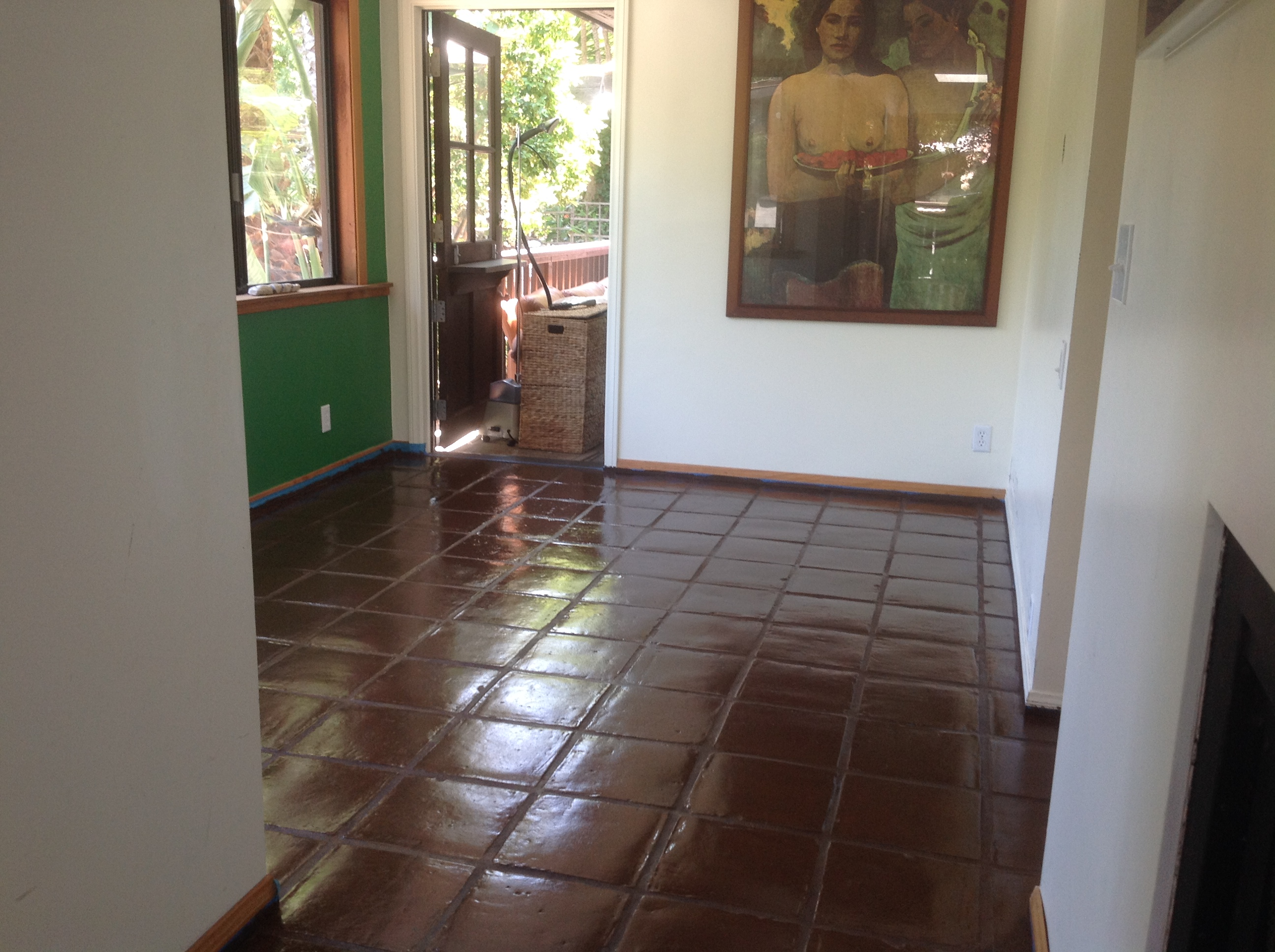 Turn your remodeling dreams into reality with our custom tile staining saltillo tile floor dailygadgetfo Gallery