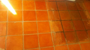 strip tile floor