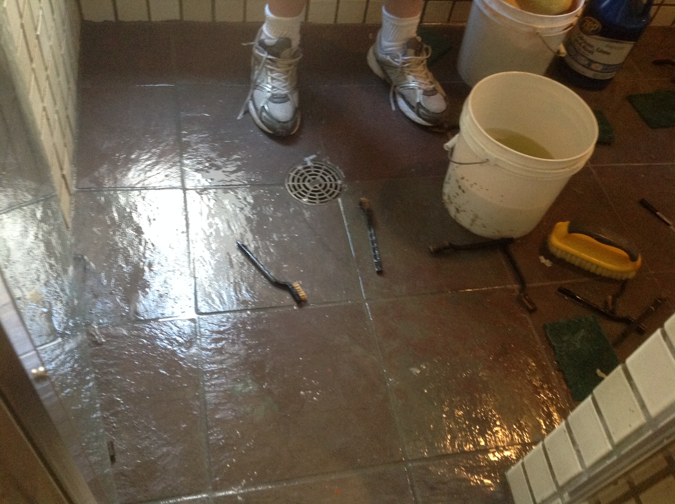 Refinishing Slate Tile Floors And Deep Cleaning California Tile