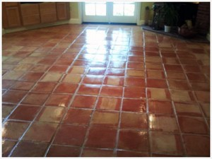 Mexican Saltillo Pavers high gloss sealer