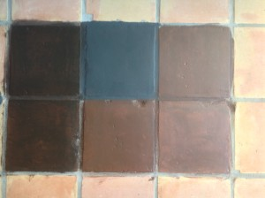 saltillo tile dark stain