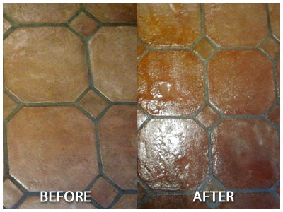 Superior Saltillo Tile Floor Refinishing Restoration Without Messy