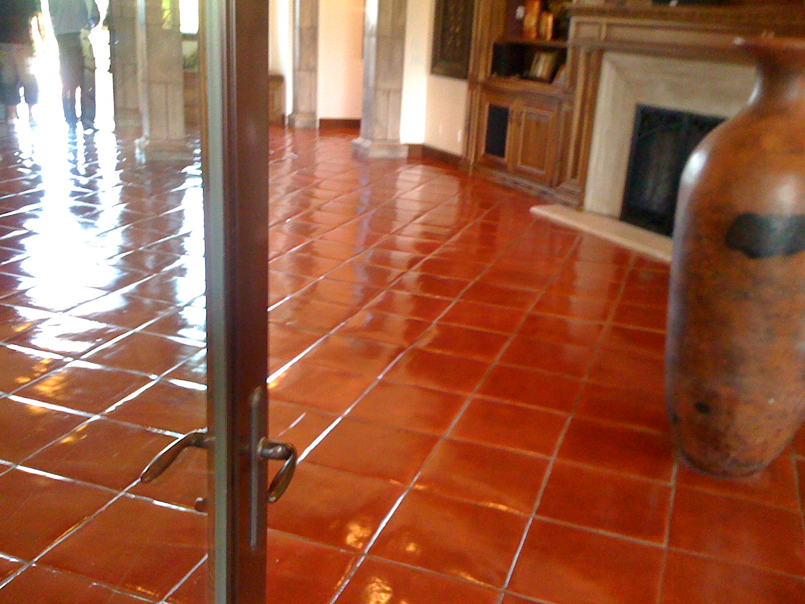 Custom Stained Terra Cotta Pavers California Tile