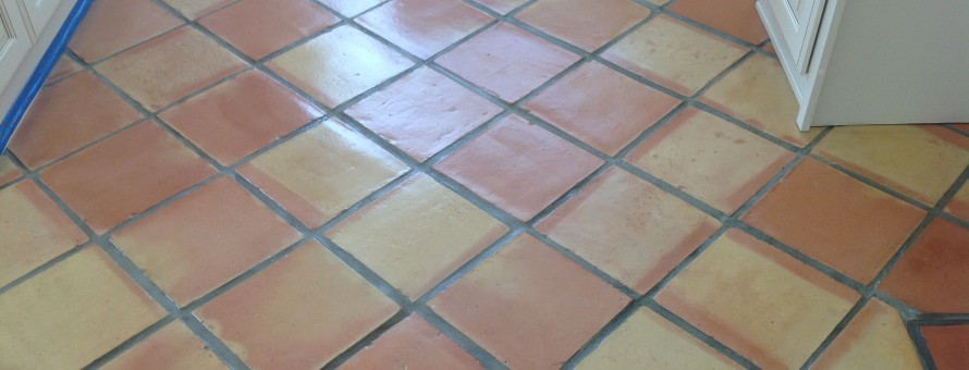 mexican pavers stripped and sealed refinished