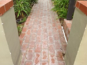 improperly sealed and sanded bricks