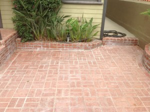 sanded sealed worn bricks