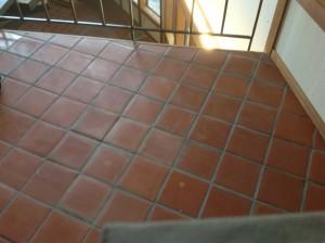 strip sealer off of tile
