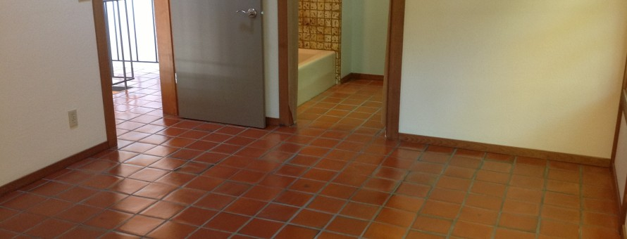Glossy sealed tiles