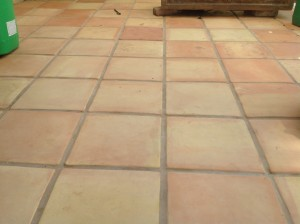 clean saltillo tiles raw