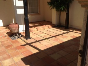 enhanced sealed saltillo tiles