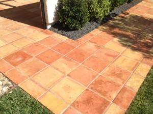 paver walkway stripped sealed