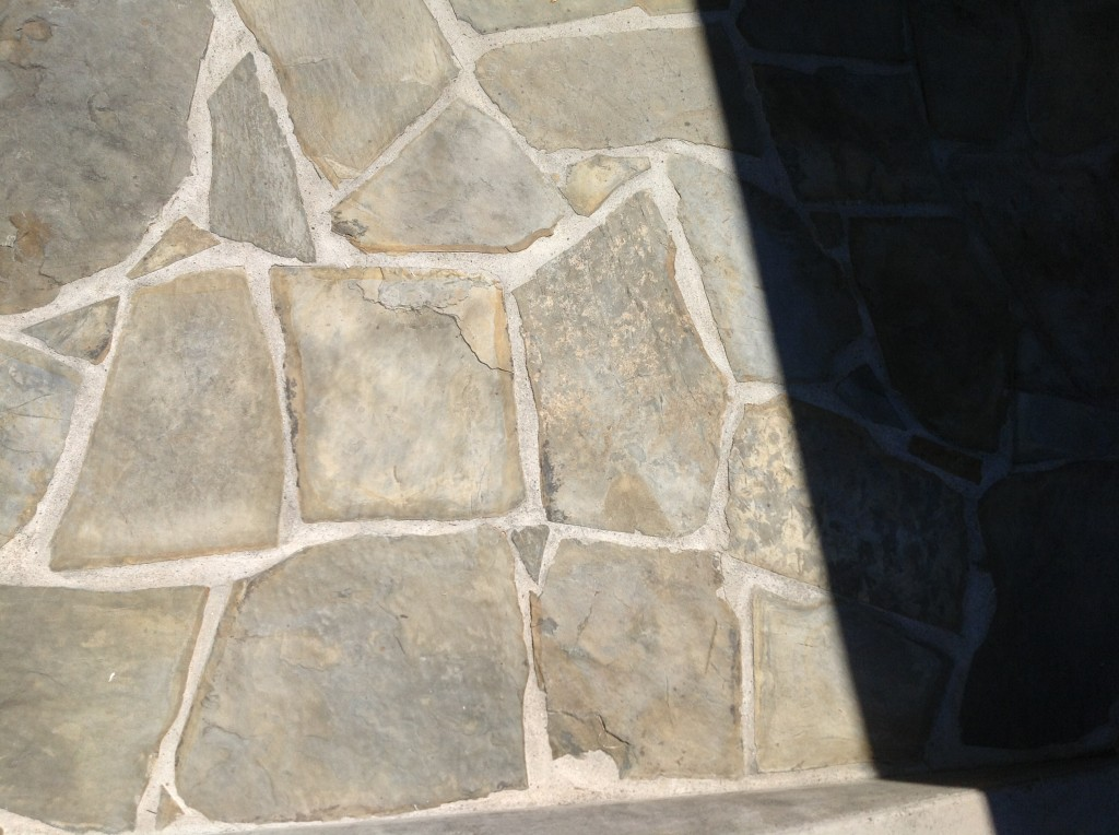 stripped irregular slate