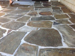 cleanest slate patio transformed