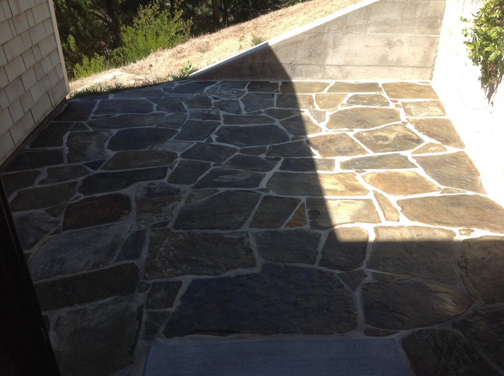 slate stripped sealed