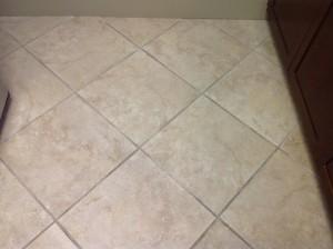 Cleaned porcelain tile