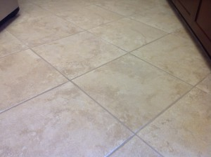 clean grout and tiles