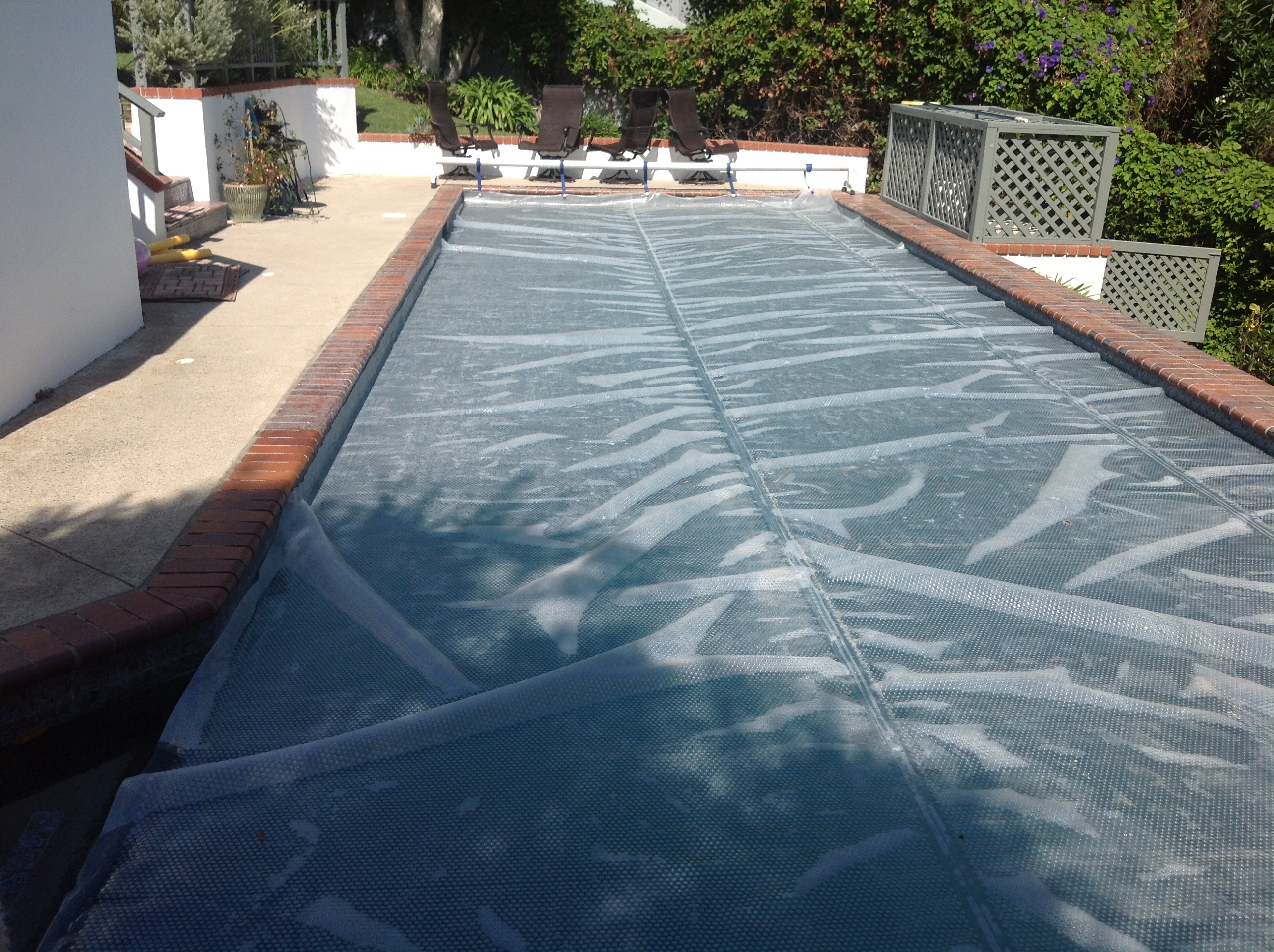Lacquer Gone Bad Around Mexican Tile Pool Coping