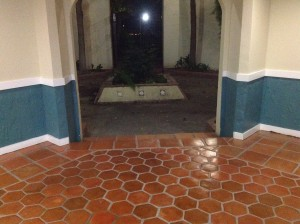 saltillo tiles refinished and sealed