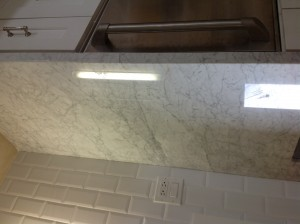 full marble counter