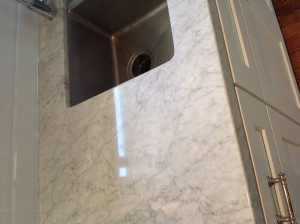 polished white carrara marble