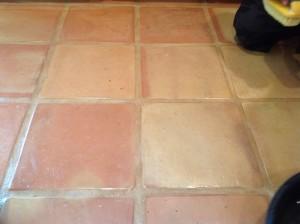 scratched saltillo tiles
