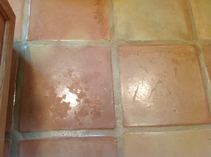 saltillo tiles peeling