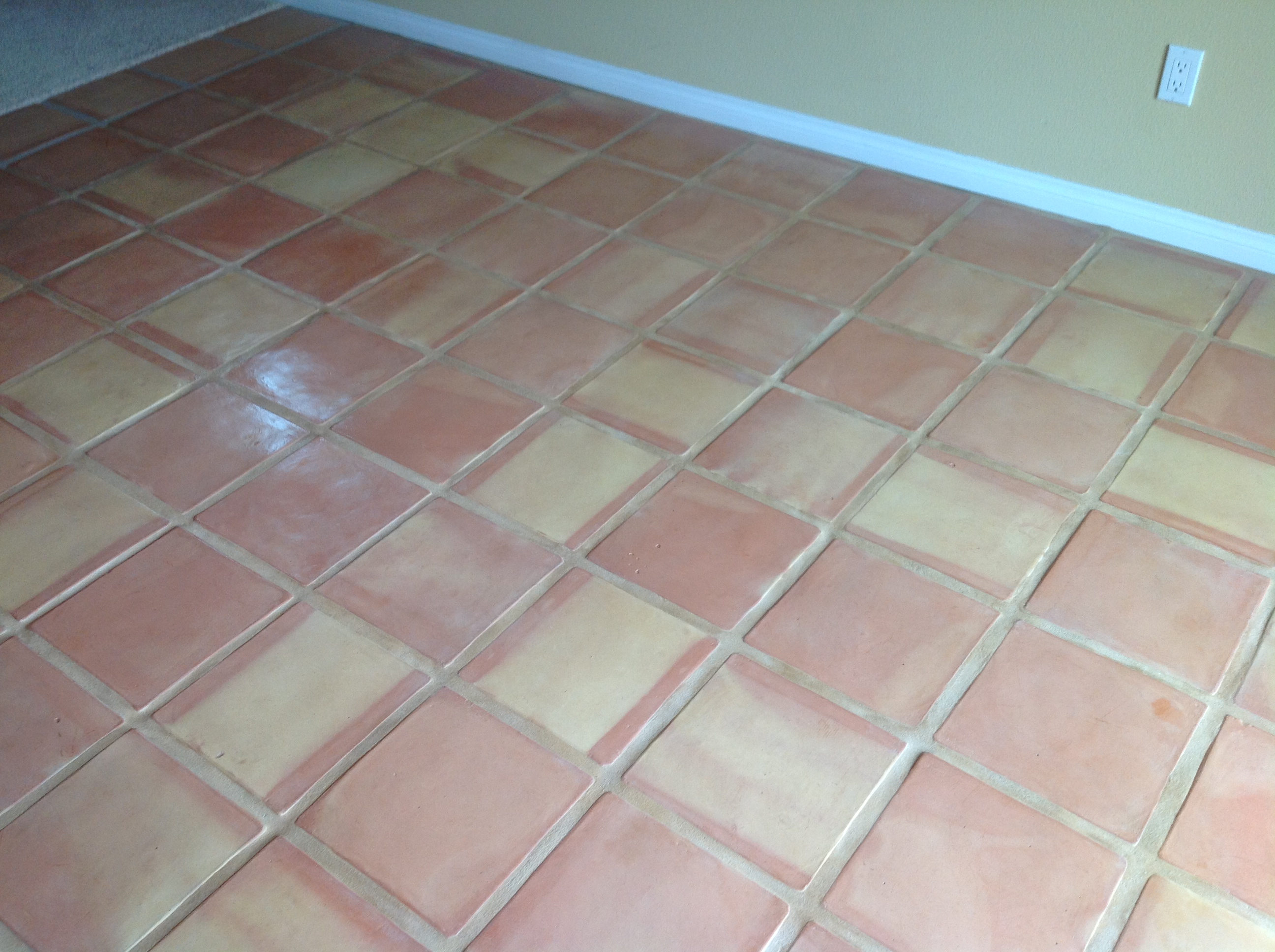 Saltillo tile dirty peeling dull california tile refinishing saltillos refinished poorly dailygadgetfo Images