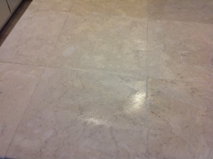 cleaning marble tiles