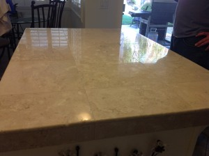 shiny marble countertop sf