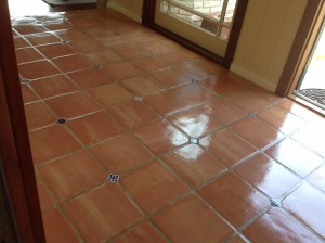 Sealed saltillo tiles in los altos ca