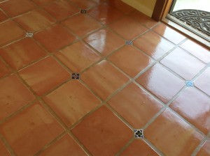high shine saltillo tiles