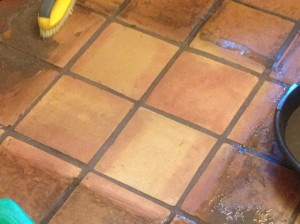 refinished saltillo tile test