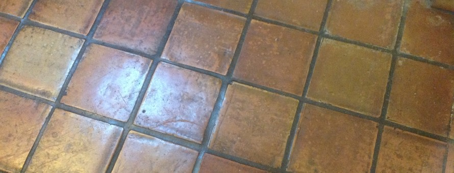 dirty antique saltillo tiles