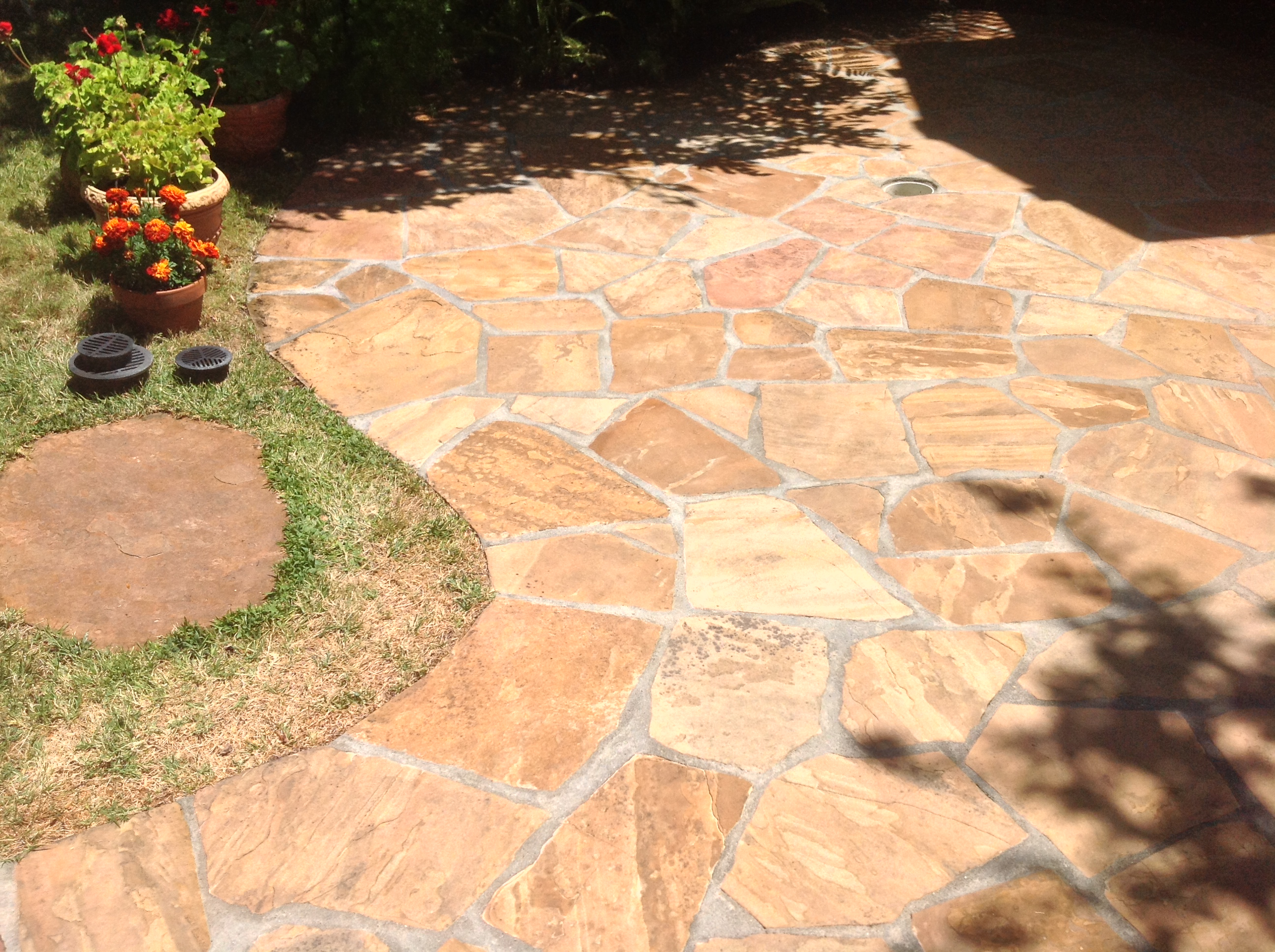 Flagstone Patio Restored Enhanced Natural Stone Patio ...