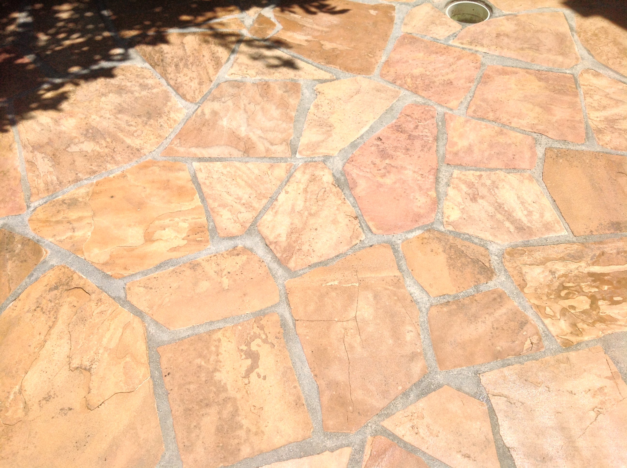 Flagstone Patio Red